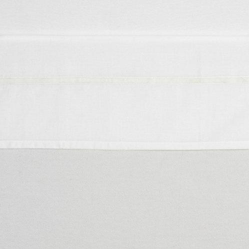 100X150 lakentje velvet biesje wit