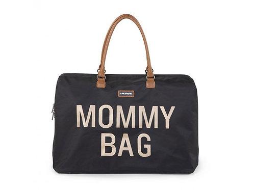 mommy bag black gold