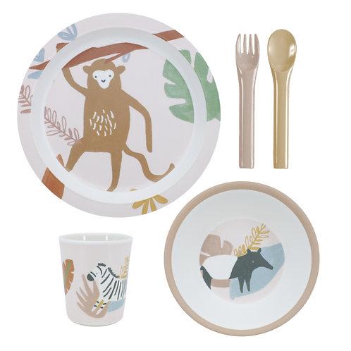 melamine eetset wildlife aap