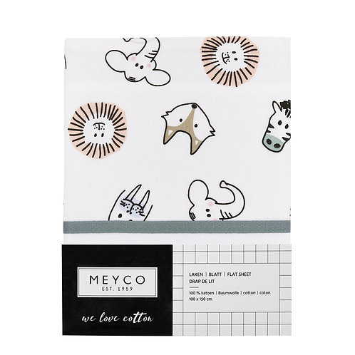 meyco wieg laken animals