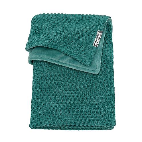 100X150 deken velvet waves emerald green
