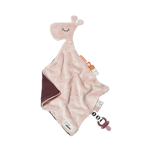 Done by Deer Knuffeldoek Comfort Blanket Giraf Raffi - Roze