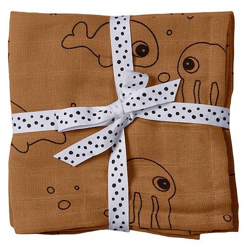 Set 2 tetra doeken Camel Done By deer