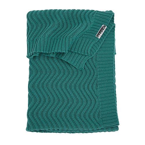 100X150 deken waves meyco emerald green
