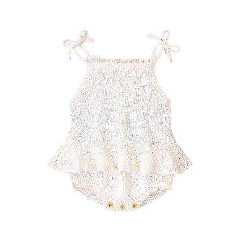 knit romper 12-18 maanden wit