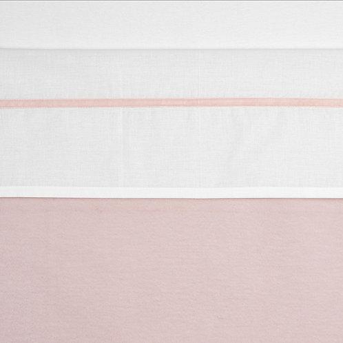 100X150 lakentje velvet biesje rose