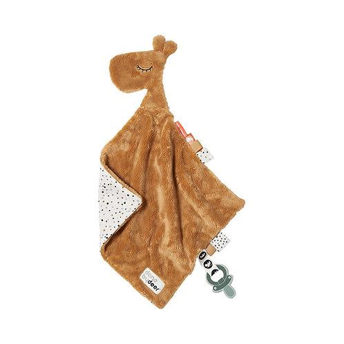 Done by Deer Knuffeldoek Comfort Blanket Giraf Raffi - camel