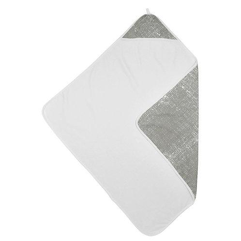 badcape fine lines licht grijs