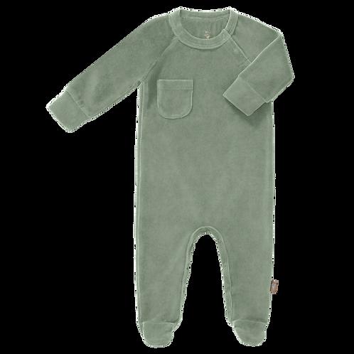 velours pyjama forest green Fresk