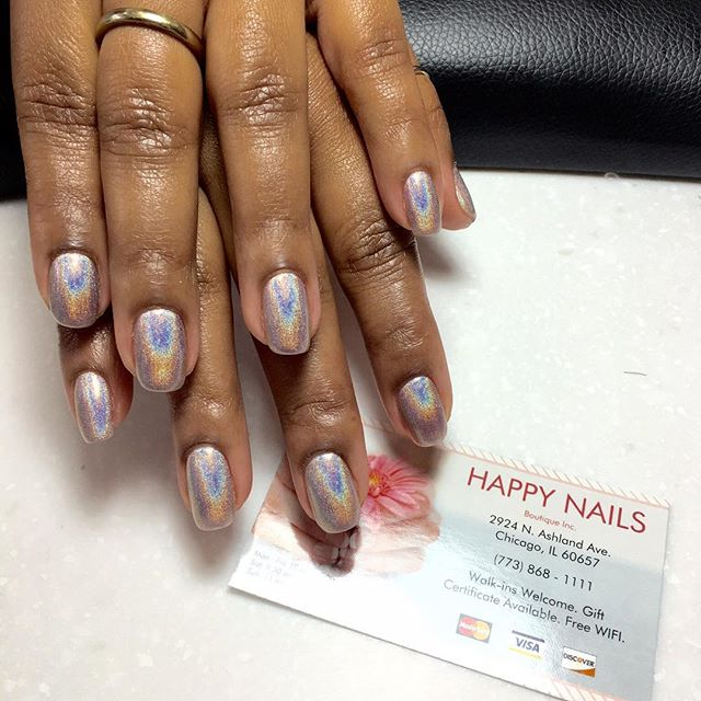 #Hologram no chip #nails #nail #gelcolors #Chicago #Lakeview