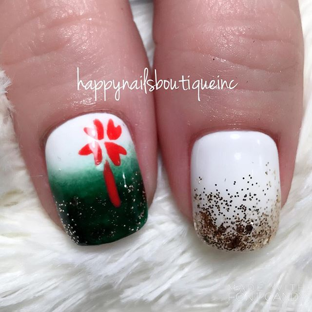 The only way to go for the girl who loves #StPatricksDay so very much! #HNB #nailsalon #Lakeview #Ch