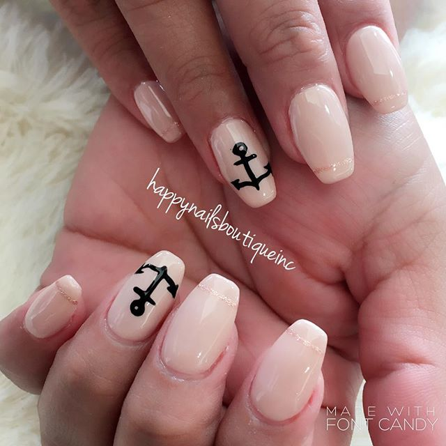 #anchor away to your best summer #vacation yet! #vaca #vacationnails #notd #nails #nochip #nailart #