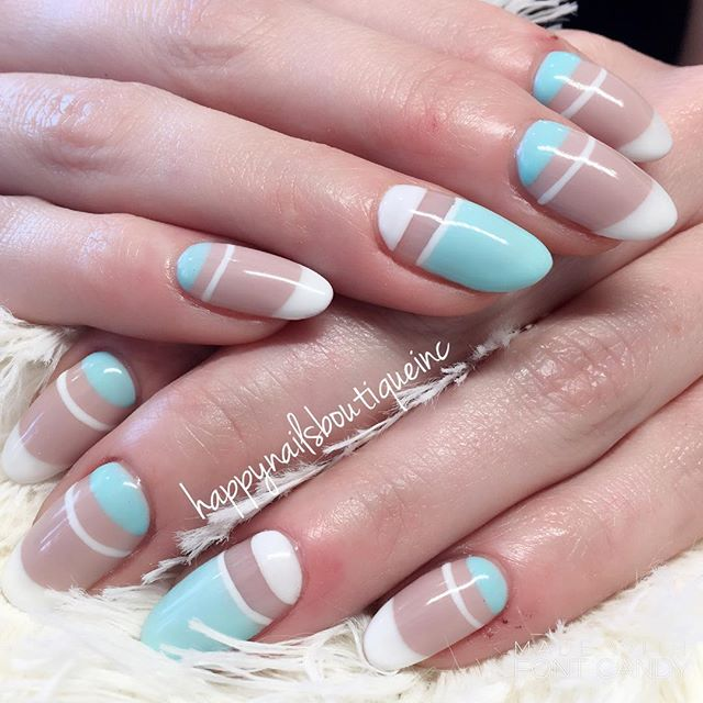 Super fun yet simple #nailart for my super hot soon-to-be mama _renaldo420 #bestnails #nailsmag #312