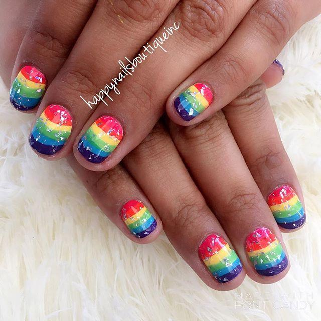 #pride2017 ready! #pride #pride🌈 #nails #naildesigns #nailart #nailsalon #nailstagram #nailsonfleek