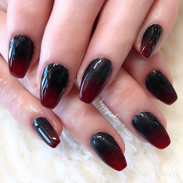 #ombré #matte and #shiny #notd #nail #nails #nailart #naildesign #french #chicago #chitown #nailsalo