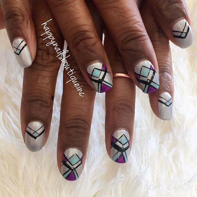 Celebrating #Vegas in #style! #Lasvegas #HNB #notd #nails #natural #nailsmag #nailsalon #nailsgame #