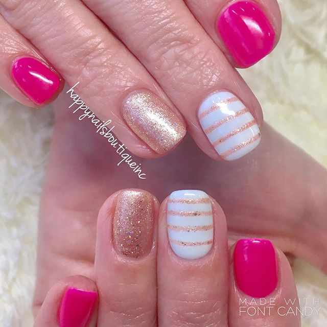 Simple lines design can add so much fun to your nail game.jpg