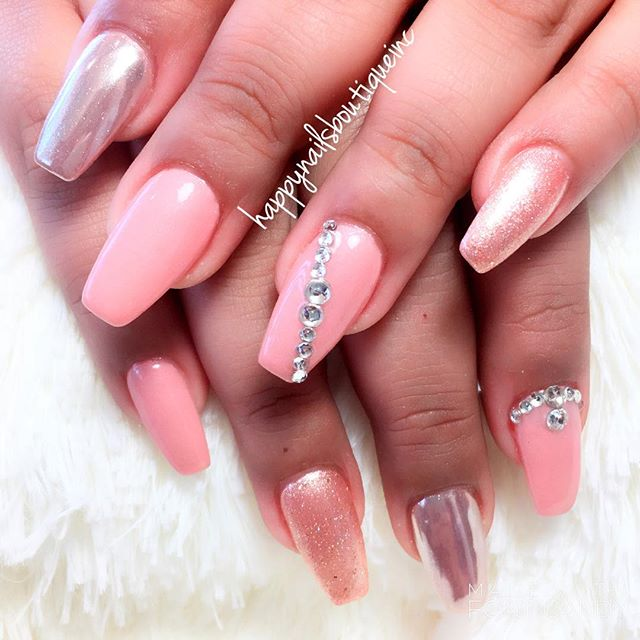 Shine right like a 💎#diamond #naildesign #custom #nailart #nailsalon #OPI #trendy #chic #Lakeview #