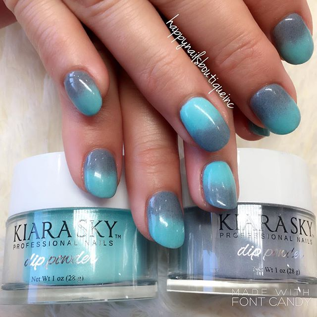 We seriously enjoy #dippowder too much! 👍🏻💅🏻🎉🕶 #kiarasky #naturalnailsgoal #nailsmagazine #Chi