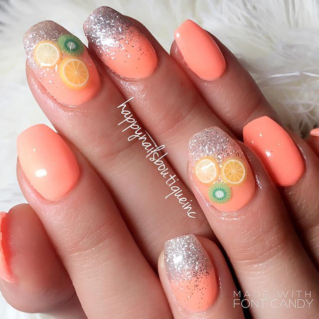summer vibe to the max! #312food #gelcolor #gelnails #gel #lakeviewchicago #lincolnpark #lakeview #l