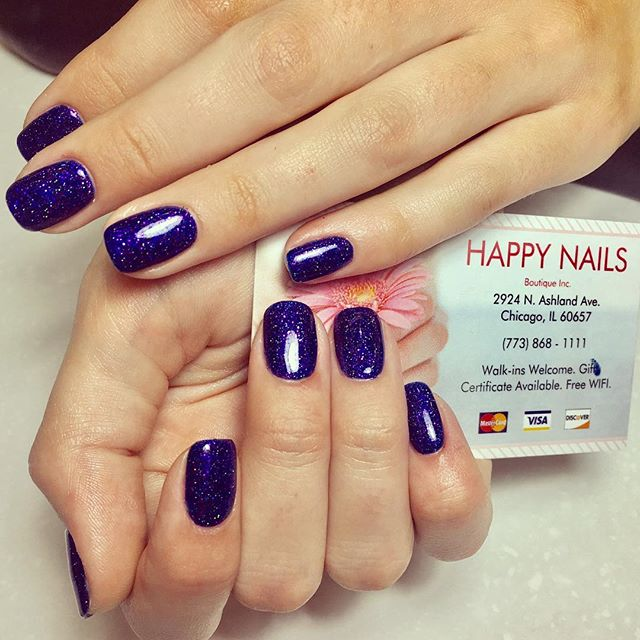 #blue and #purple #sparkles 💅🏻❄️🎄🎅🏻 #HNB #nail #nails #Chicago #winter