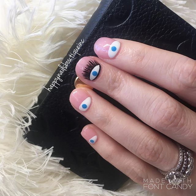 They see it all! #theeyes #evileyes #dippowder #dippowdernails #notd #nails #nailart #nailgame #nail