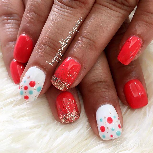 So ready for summer! 🕶💅🏻☀️ #nails #nailart #nailstagram #naildesigns #nailsonfleek #312food #hnb