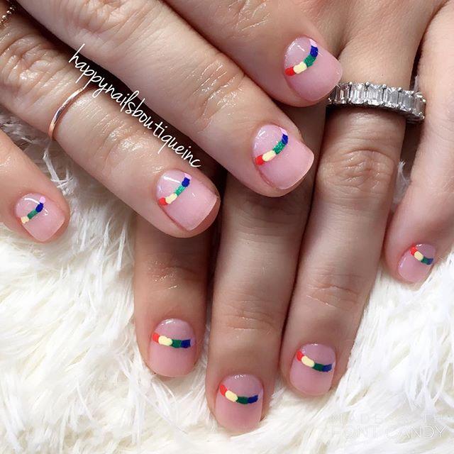 #pride2017 ready! 🌈💅🏻 #dippowder #dippowdernails #rainbow #pride🌈 #pridemonth #lgbt #nails #nail