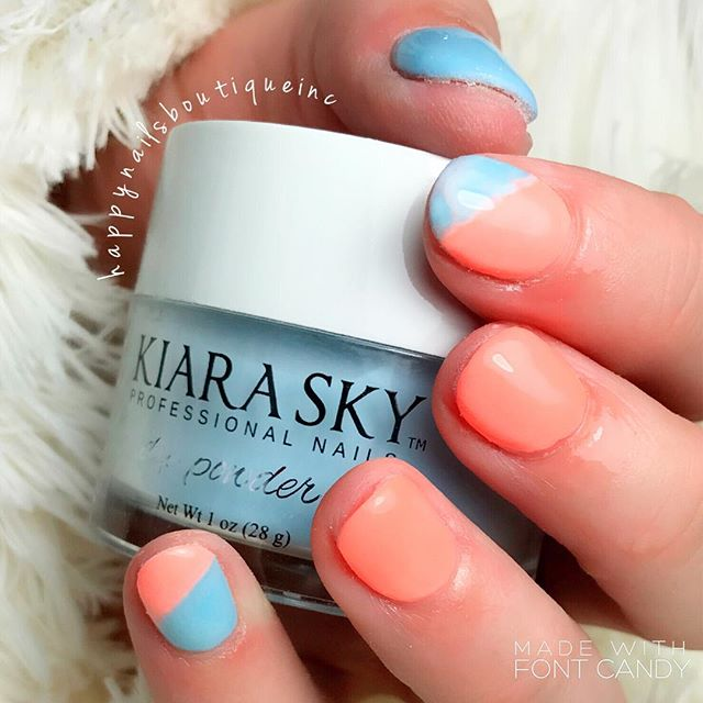 #KiaraSky #dippowder kind of day! 😘❤️ #nailsmagazine #nails #nailsalon #Chicago #Lakeview #chic #tw
