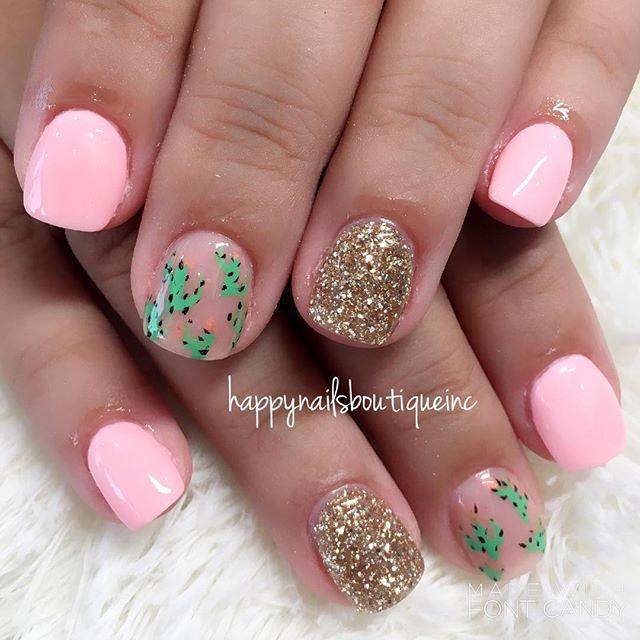 #cactus #vacation #vaca #vacationnails #notd #nails #nochip #nailart #nailgame #nailsmag #nailtech #