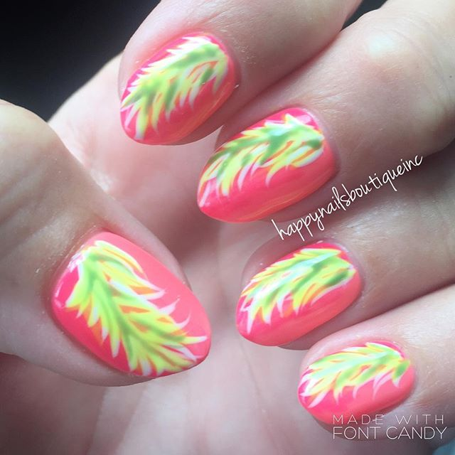 Time to get #tropical! ☀️🏖🏝 #notd #nails #nochip #nailart #nailgame #nailsmag #nailtech #nailsalon