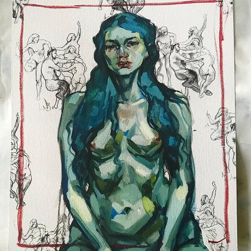Limited Edition Print - Self Portrait with Bouguereau