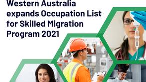 Western Australia expands Occupation List for Skilled Migration Program 2021