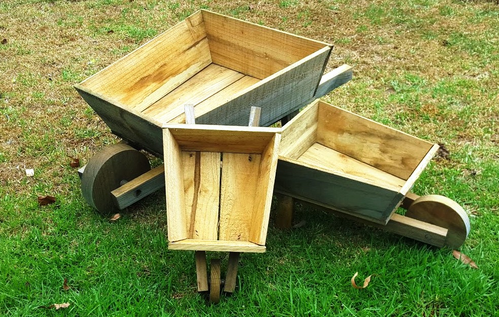 Wooden Wheel Wheelbarrows