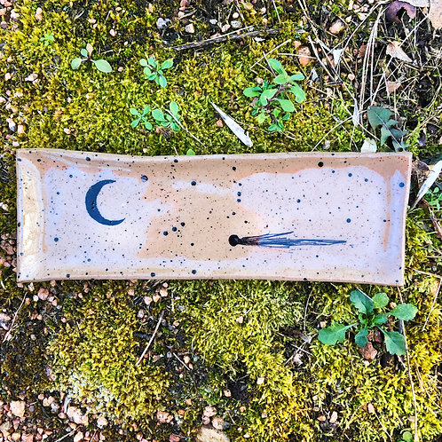 Comet and Moon Serving Tray