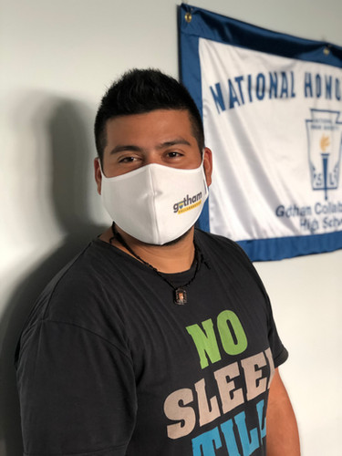 Technology Coordinator Alex showing off his GCHS mask!