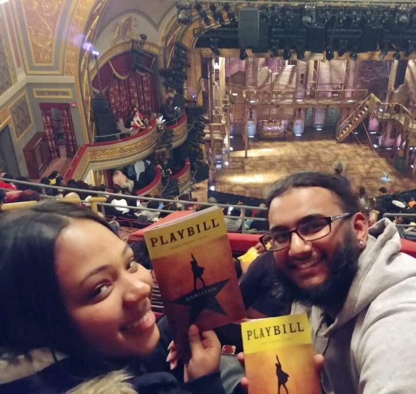 US History students excited for Hamilton on Broadway!