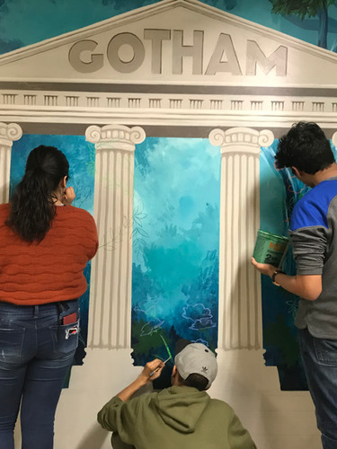 National Honor Society adds new mural to hallway!