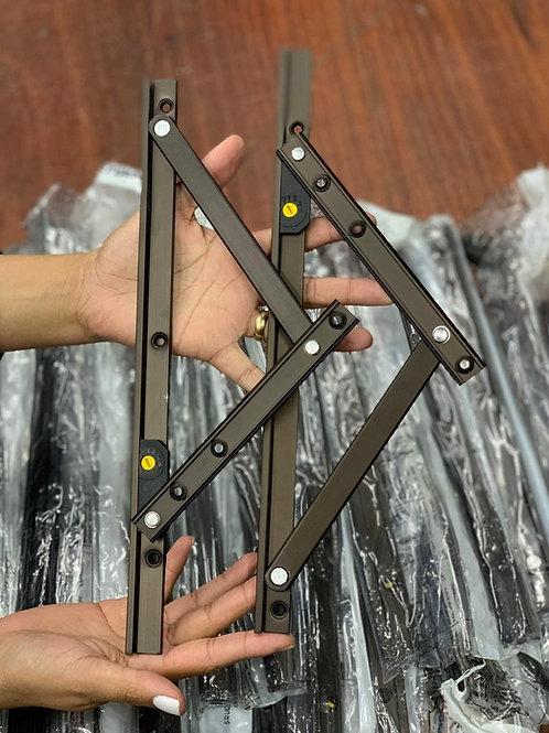 Articulação (braço) para janela maxim ar - 320mm - BRONZE - Linha 20 e 25