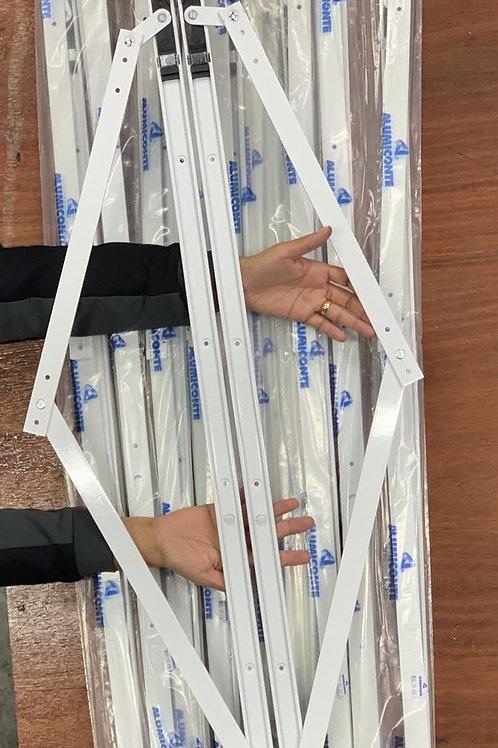 Articulação (braço) para janela maxim-ar - 950mm - BRANCO - Linha PVC