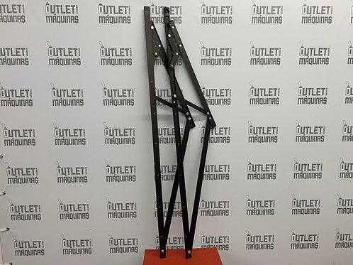 Articulação (braço) para janela maxim ar - 1200mm - Bronze - Linha Fachada