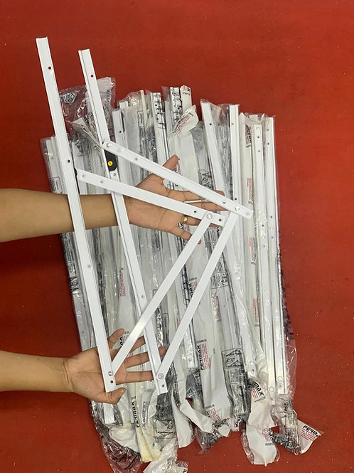 Articulação (braço) para janela maxim ar - 600mm - BRANCO - Linha 20 e 25