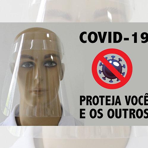 Escudo Protetor Facial De Polietileno - Caixa Com 100 Pçs