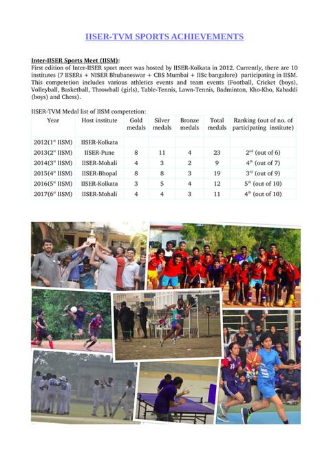 IISER TVM Achievments (2008-2018)