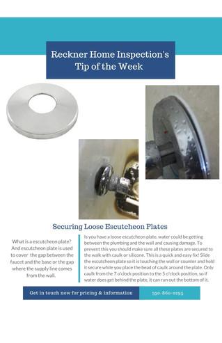 Are Your Escutcheon Plates Loose?