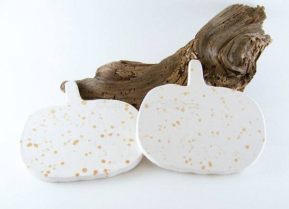 Speckled Pumpkin Coasters
