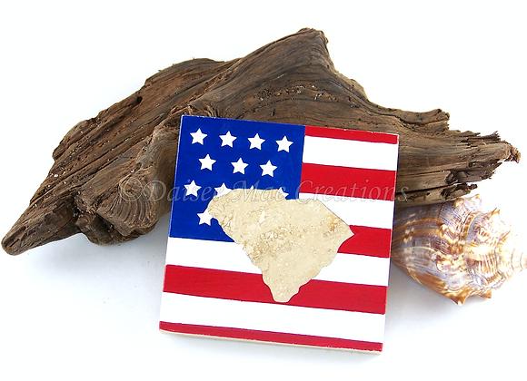 SC American Flag Coasters