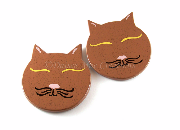 Speckled Cat Coasters