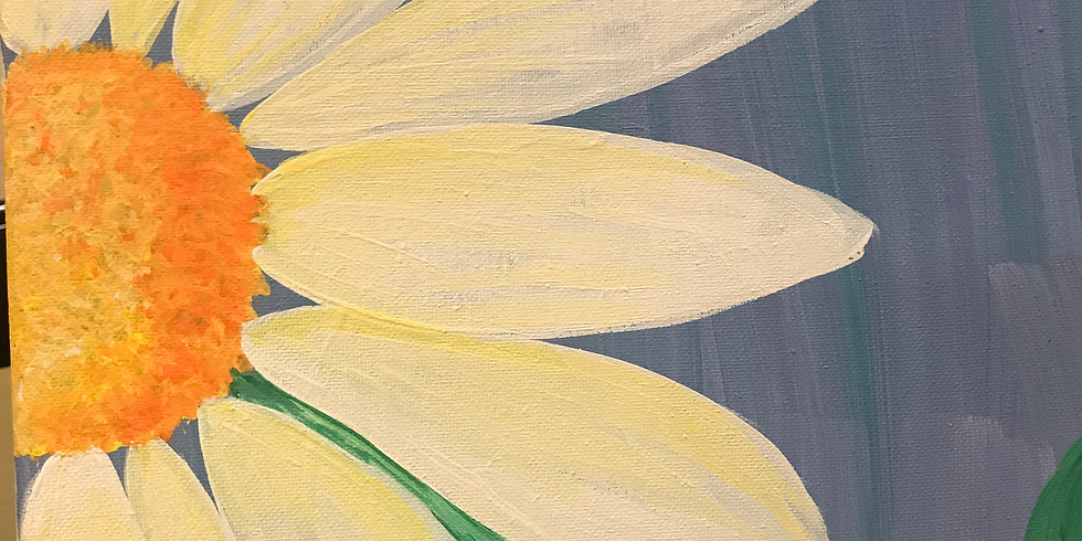 Daisy Canvas Paint