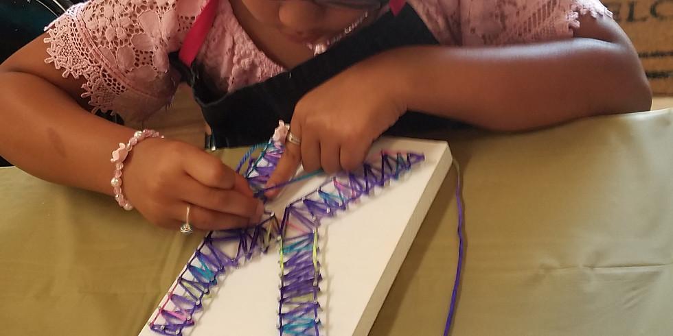 Craft Camp- Initial String Art